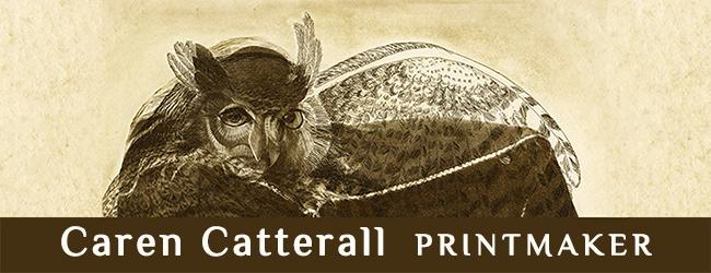 Caren Catterall, Sonoma County Printmaker Logo